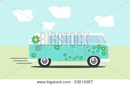 Vector Hippie Van