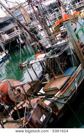 Fishing Boats At Dock