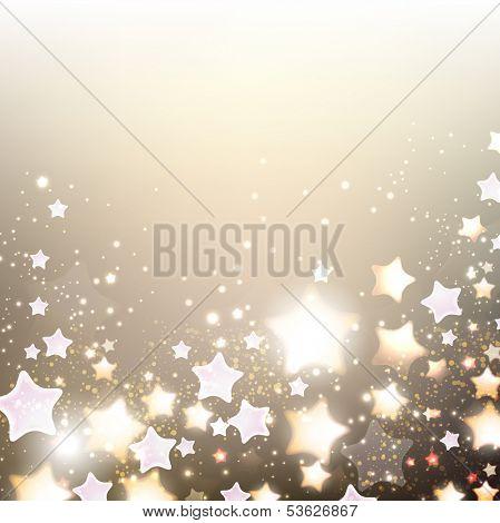 Elegant Christmas background with stars. Vector illustration