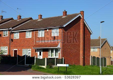 Redbrick english houses