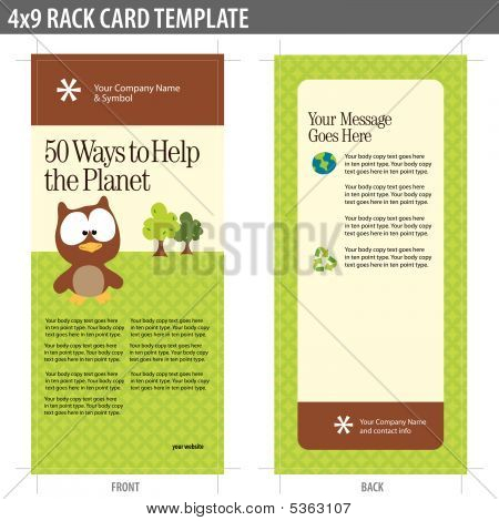 4x9 Rack Card Brochure Template