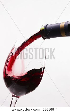 Red Burgundy Wine Drink Filling Stemmed Glass Alcohol Liquid Refreshment