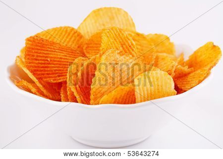 Potato Chips In Bowl