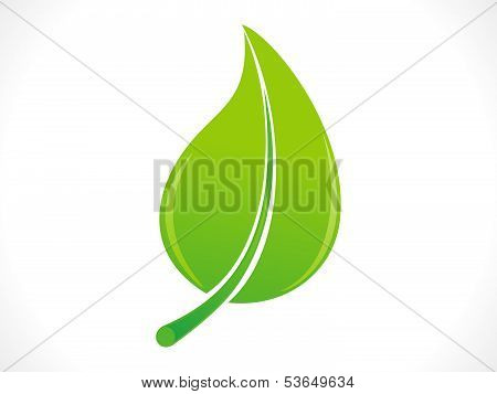 abstract eco green leaf icon vector illustration poster