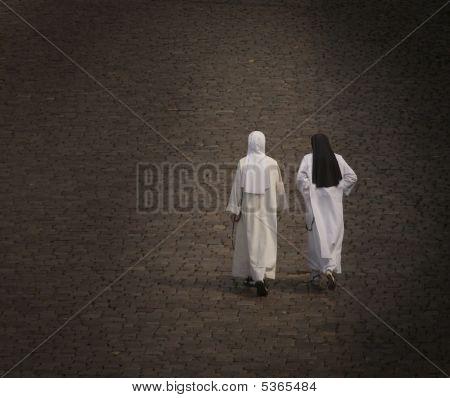 Two Nuns On Walk