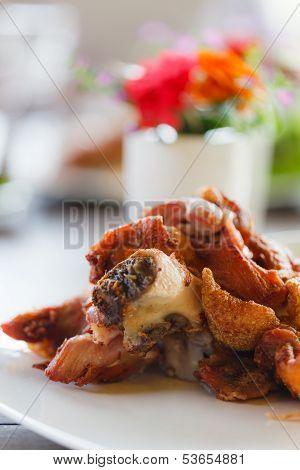 German Grilled Pork On The Dish