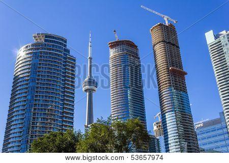 CN tower among Condos