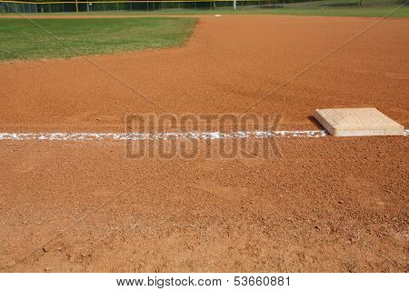 View of a Baseball Field from First Base