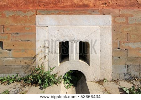 White Marble Drainage Holes In The Eastern Royal Tombs Of The Qing Dynasty, China