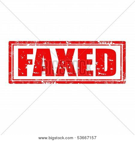 Faxed-stamp