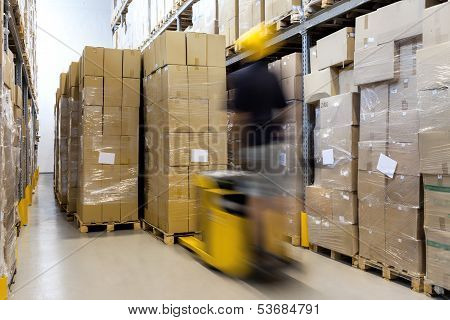 Fork Lift At Work