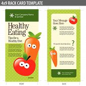 4x9 Two Sided Rack Card (includes crop marks, bleeds and key line - elements in layers) poster