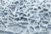 Detailed background texture of broken ice surface poster