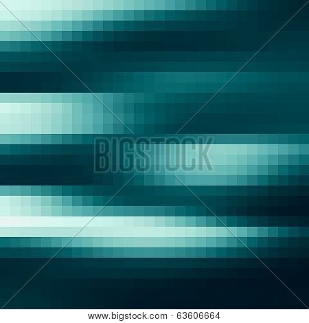 Blue pixel pattern, Abstract Design, Digital square pixel mosaic poster