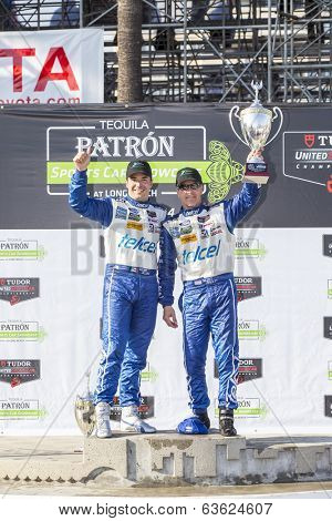 Long Beach, CA - Apr 12, 2014:  Scott Pruett and Memo Rojas, hold off the rest of the field to win the  TUDOR United SportsCar Championship of Long Beach at Grand Prix of Long Beach in Long Beach, CA.