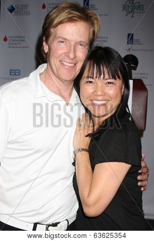 LOS ANGELES - APR 14:  Jack Wagner, Lori Loo at the Jack Wagner Anuual Golf Tournament benefitting LLS at Lakeside Golf Course on April 14, 2014 in Burbank, CA
