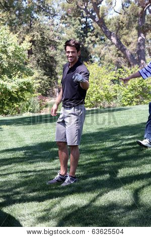 LOS ANGELES - APR 14:  Brandon Beemer at the Jack Wagner Anuual Golf Tournament benefitting LLS at Lakeside Golf Course on April 14, 2014 in Burbank, CA