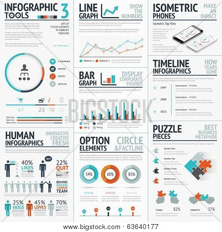 Stunning infographic elements vector set for your projects to make an impact