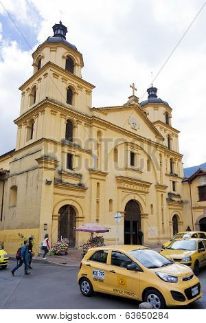 Colonial church in the downtown part of Bogota Colombia