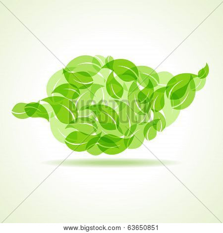 Eco leaves make a leaf icon
