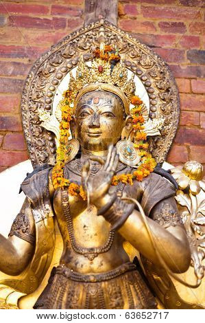 Sculpture Of Deity, Kathmandu, Durbar Square, Nepal