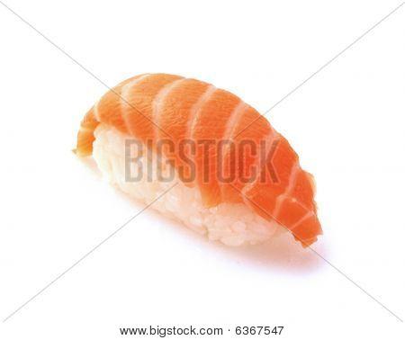 Japanese Sushi With Salmon Fish