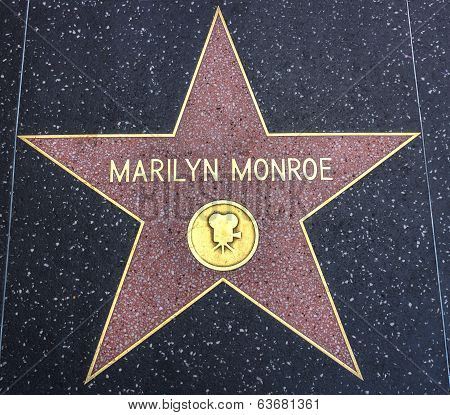 Marilyn Monroe Star On The Walk Of Fame