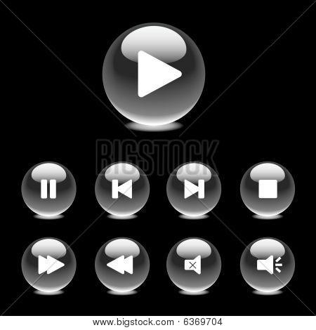 Monochrome playback controls