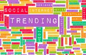 Trending Online and Digital Business News Art poster