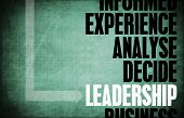 Leadership Core Principles as a Concept Abstract poster