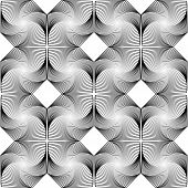 Design seamless monochrome decorative diamond geometric pattern. Abstract diagonal trellised textured background. Vector art poster