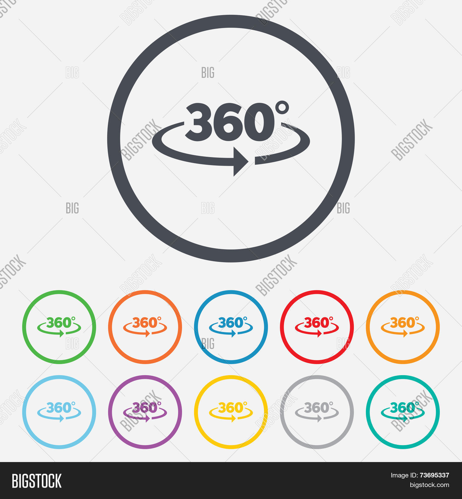 Angle 360 Degrees Vector Photo Free Trial Bigstock
