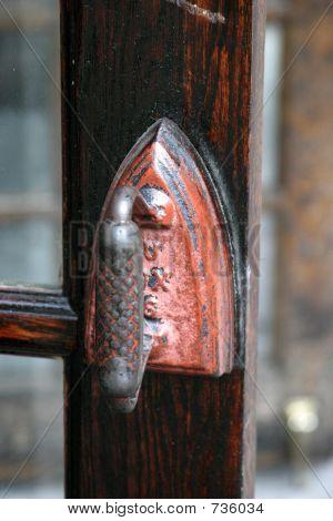 Door handle iron