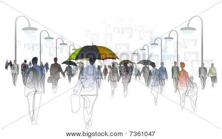 City_rain_drawing