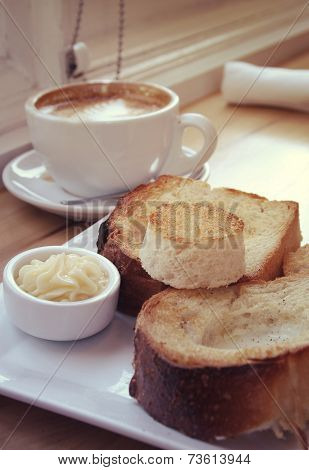 Toast, Coffee And Butter