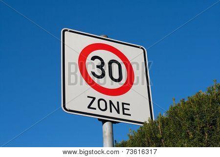 Sign maximum speed 30