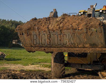 wheel loader during backfillin