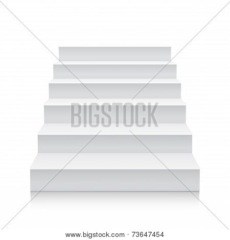 Stairs isolated on white background