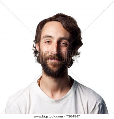 Bearded Man Smiling