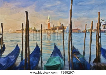 Impressionist Art Of Venice Italy