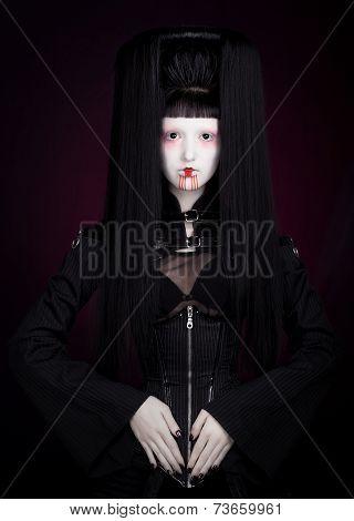 Futuristic geisha