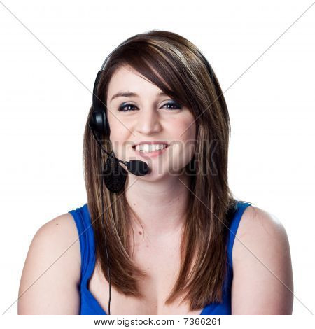 Receptionist Answering Phones