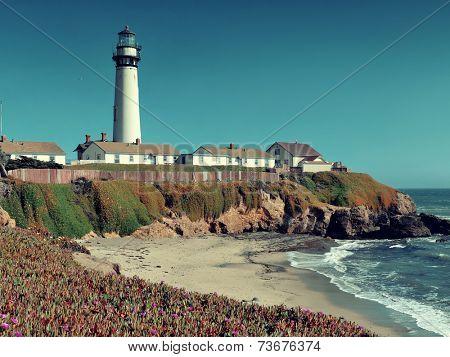 Pigeon Point lighthouse in Big Sur California.