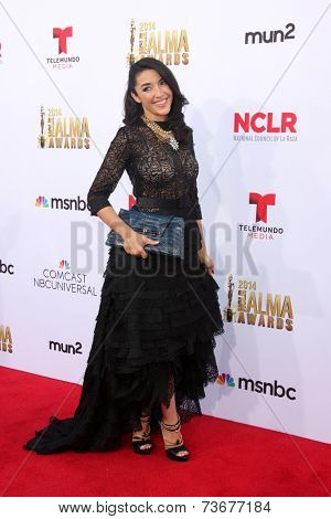 LOS ANGELES - OCT 10:  Yvette Yates at the ALMA Awards Arrivals 2014 at Civic Auditorium on October 10, 2014 in Pasadena, CA
