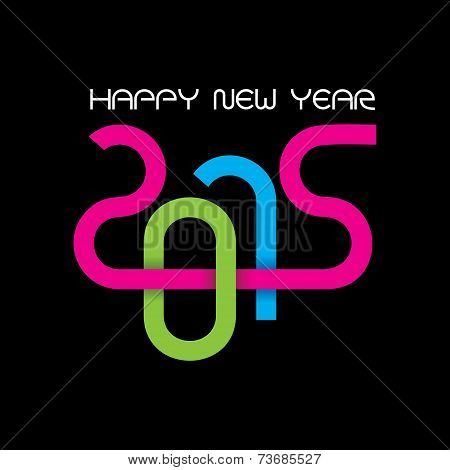 creative happy new year 2015 design stock vector