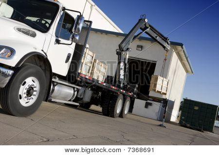 Crane Delivering Box