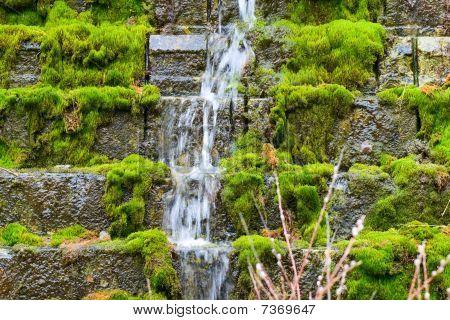 Waterfall On Steps