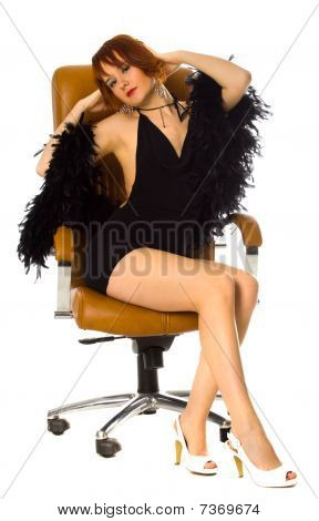 Beauty In Leather Armchair