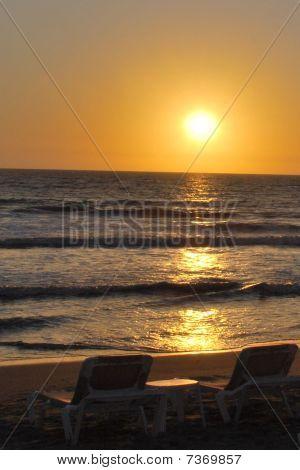 Ocean Sunset for two