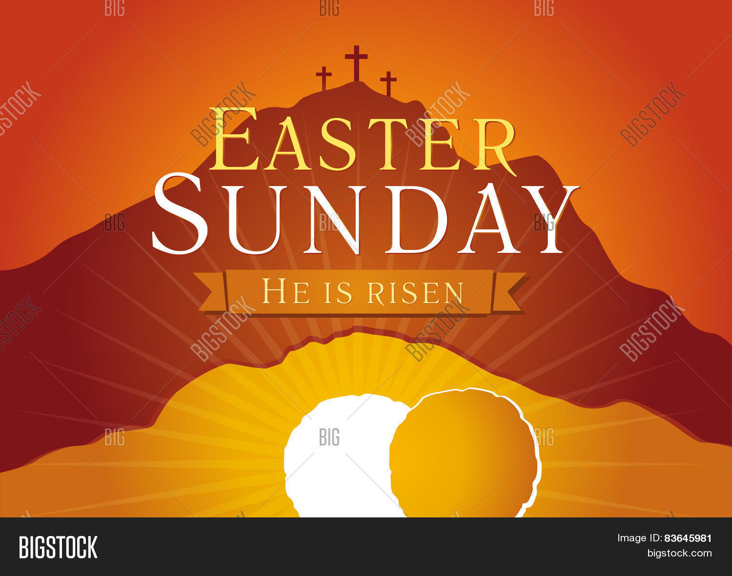 Easter Sunday He Vector Photo Free Trial Bigstock